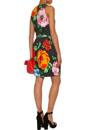 LOVE MOSCHINO Printed cotton-blend jersey dress