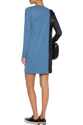 LOVE MOSCHINO Mesh-paneled stretch-jersey mini dress