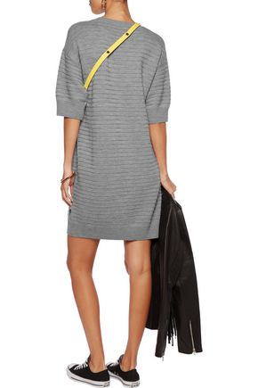 LOVE MOSCHINO Textured-wool dress