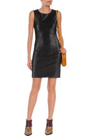 LOVE MOSCHINO Metallic stretch cotton-blend mini dress