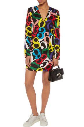 LOVE MOSCHINO Printed crepe mini dress