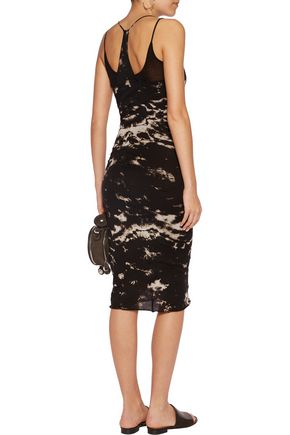 ENZA COSTA Layered printed Pima cotton dress
