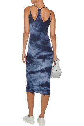 ENZA COSTA Layered printed Pima cotton dress
