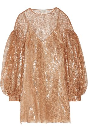 ZIMMERMANN Lavish metallic lace mini dress