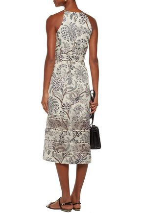 ZIMMERMANN Adorn Bell paneled floral-print silk-organza and silk-crepe midi dress