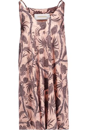 ZIMMERMANN Lavish printed satin mini dress