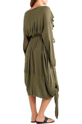 VIVIENNE WESTWOOD ANGLOMANIA Balloon frayed crepe dress