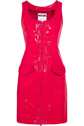MOSCHINO Patent-leather mini dress