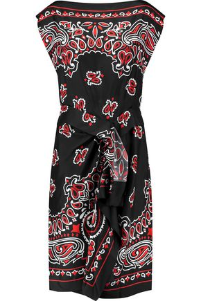 MOSCHINO Printed silk dress