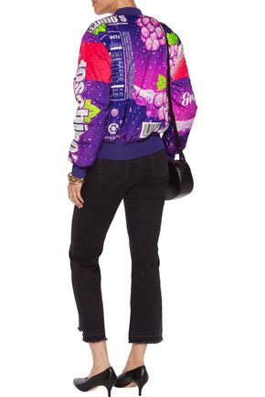 MOSCHINO Printed padded shell jacket