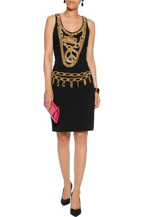 MOSCHINO Embellished stretch-jersey mini dress