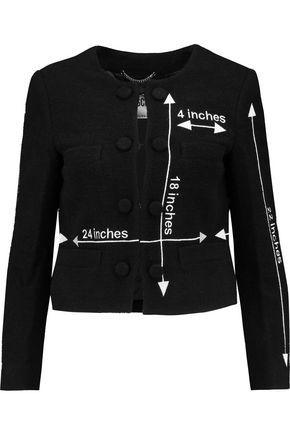 MOSCHINO Embroidered wool-blend jacket