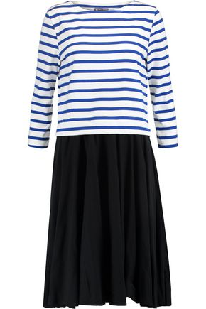 PETIT BATEAU Layered striped cotton dress