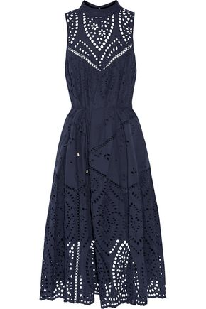 ZIMMERMANN Harlequin broderie anglaise cotton midi dress