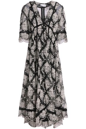 ZIMMERMANN Pavilion asymmetric paneled crepe midi dress