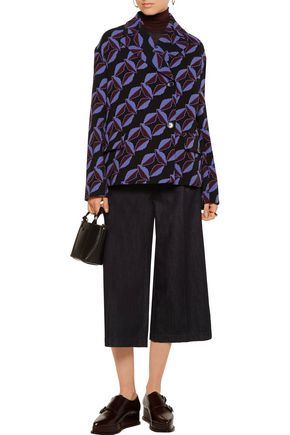 MARNI Printed wool-crepe jacket