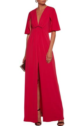 HALSTON HERITAGE Embellished jersey gown