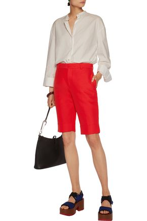 MARNI Bermuda cotton-faille shorts