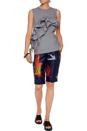 MARNI Bermuda cotton-faille shorts