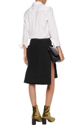 RICK OWENS Wool and linen-blend skirt