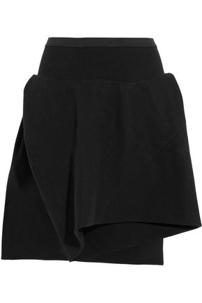 RICK OWENS Draped cotton and silk-blend shorts