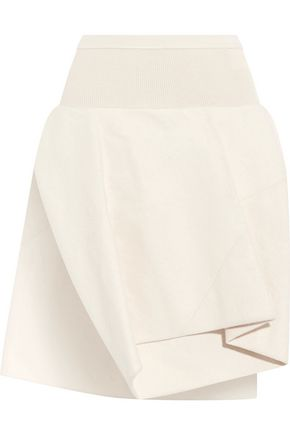 RICK OWENS Draped cotton and silk-blend shorts