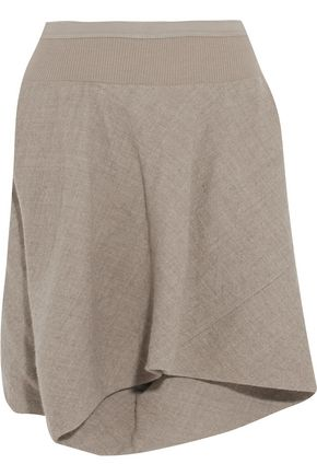 RICK OWENS Wool and linen-blend shorts ...