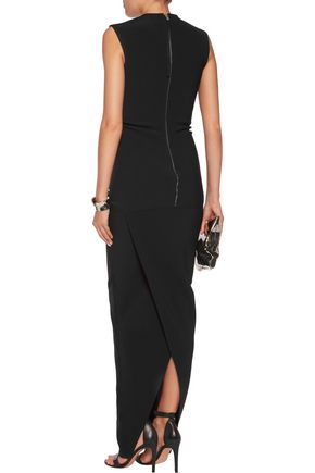 RICK OWENS Crepe de chine maxi dress