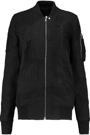 RICK OWENS Embroidered wool-twill jacket