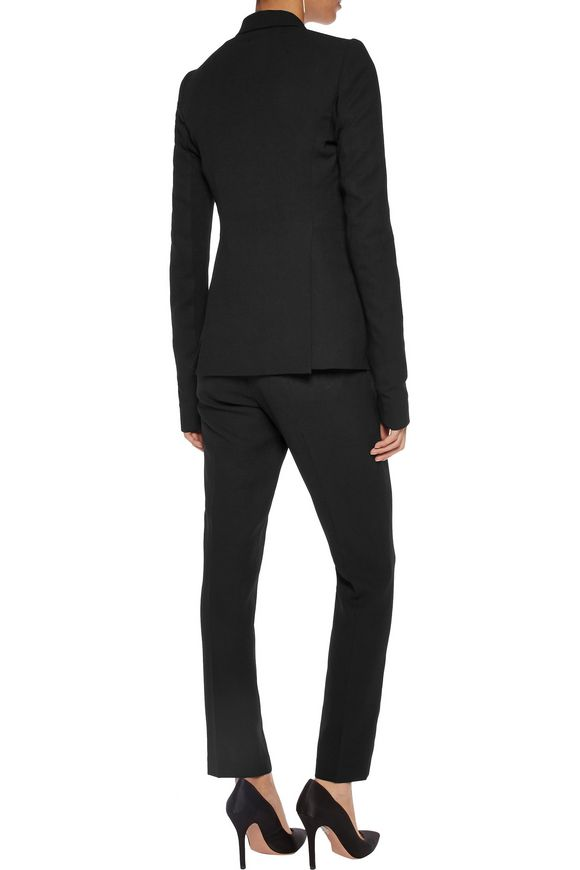Ribbed knit-paneled wool-crepe blazer   RICK OWENS   Sale up to 70% off    THE OUTNET