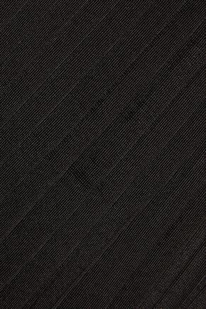 GIVENCHY Paneled stretch-knit and pleated stretch-jersey dress