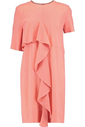 MARNI Draped silk-blend mini dress