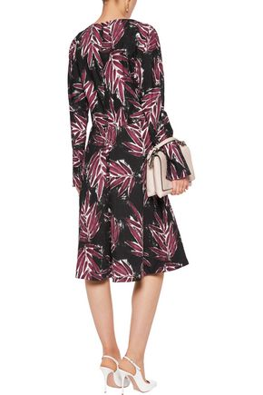 MARNI Printed cotton-canvas dress