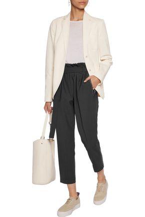 BRUNELLO CUCINELLI Belted cotton-faille blazer
