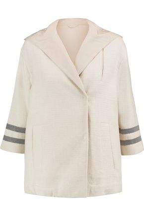 BRUNELLO CUCINELLI Chain-trimmed cotton-blend bouclé hooded jacket