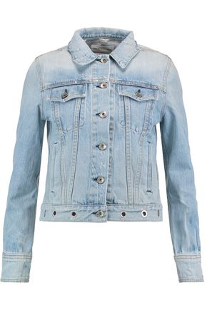 RAG & BONE Eyelet-embellished denim jacket