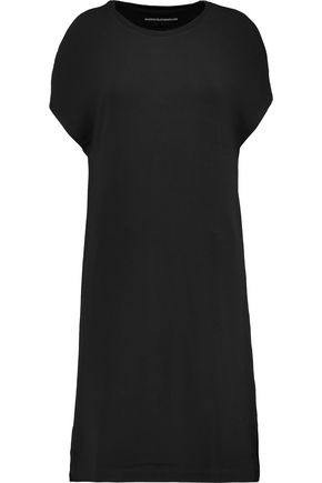 MAJESTIC Cold-shoulder stretch-jersey mini dress
