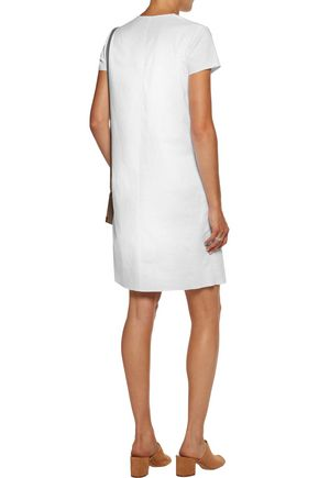 MAJESTIC Cotton-gauze mini dress