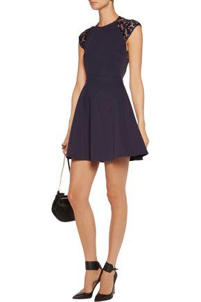 MAJE Embellished satin mini dress