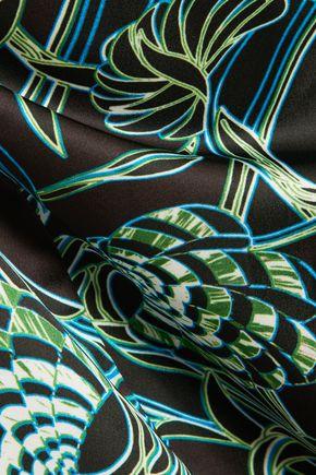 JUST CAVALLI Printed satin maxi dress