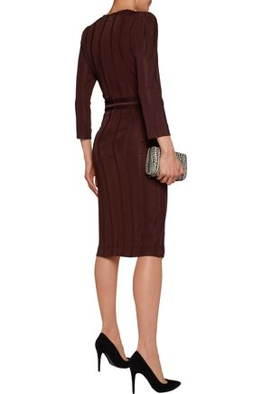 JUST CAVALLI Striped stretch-jersey dress
