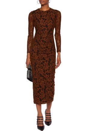 JUST CAVALLI Corded lace midi dress