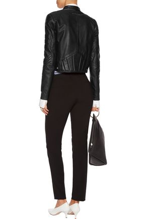 MM6 by MAISON MARGIELA Quilted leather biker jacket