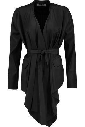 MM6 by MAISON MARGIELA Draped wool-blend jacket