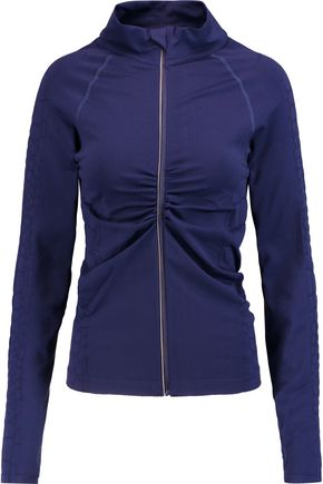 YUMMIE by HEATHER THOMSON® Vera croc effect-trimmed stretch-jersey jacket