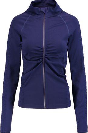 YUMMIE by HEATHER THOMSON® Vera croc effect-trimmed stretch-jersey jacket