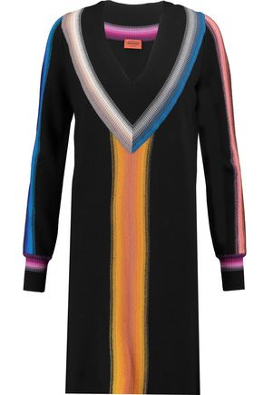 MISSONI Rib-trimmed wool dress