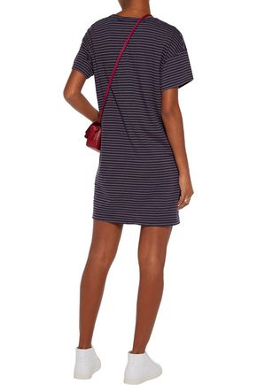 CURRENT/ELLIOTT The Slouchy striped cotton-blend mini dress