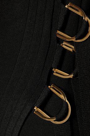 ANTONIO BERARDI Asymmetric one-shoulder stretch-knit wrap dress