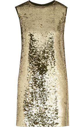 DOLCE & GABBANA Sequined tulle mini dress